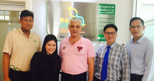 Beike's Chief Operating Officer Enrico Bisello visited the patients in BBH.