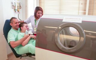 CP Patient entering Hyperbaric Oxygen Chamber HBOT at Better Being Hospital