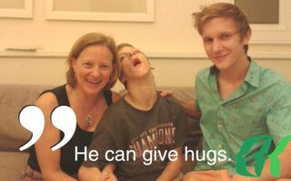 Hunter and family at BBH Hospital during their Stem Cell Treatment in June of 2014