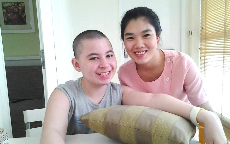 CP-patient-Renzo-with-nurse-during-stem-cell-treatment